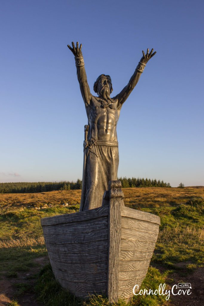 Statue of Manannán mac Lir-Gortmore Viewing Point on Binevenagh Mountain - Limavady - County Derry/Londonderry