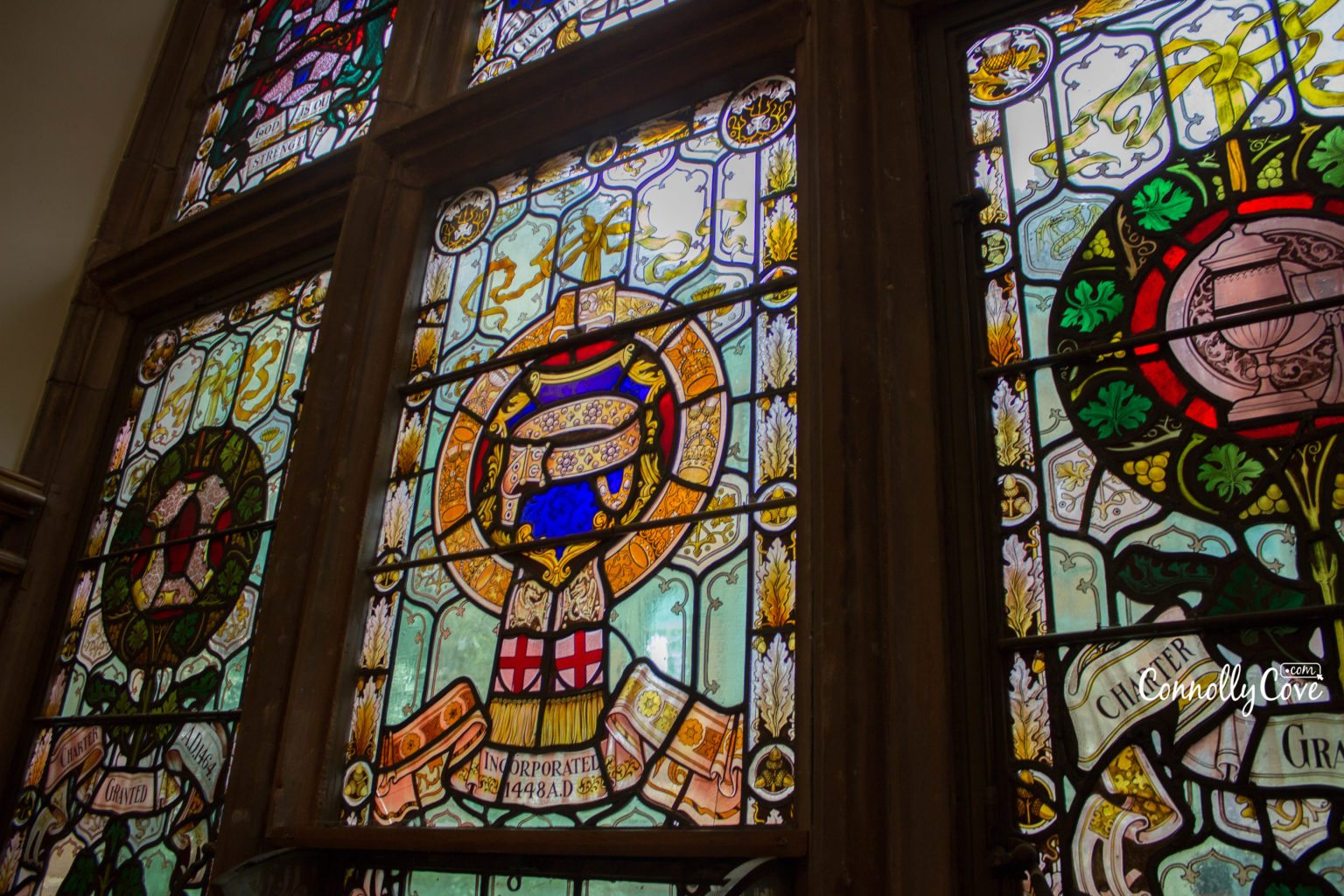 Stain Glass Windows - The Guildhall