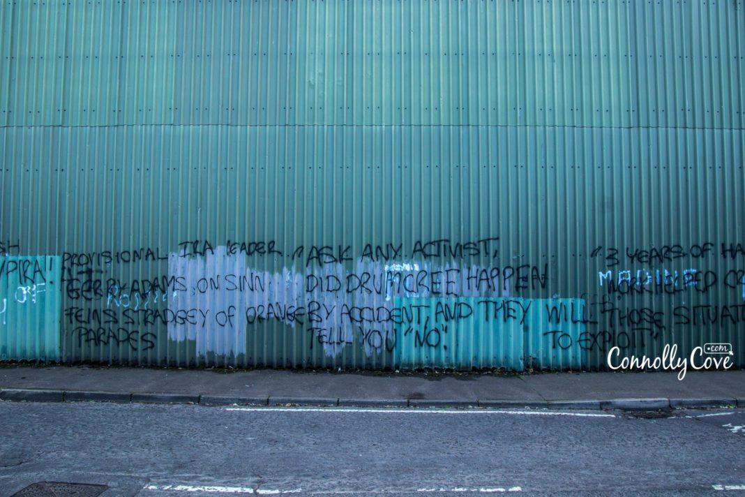 "Peace Wall Belfast-Belfast Murals - ""Berlin Ireland"""