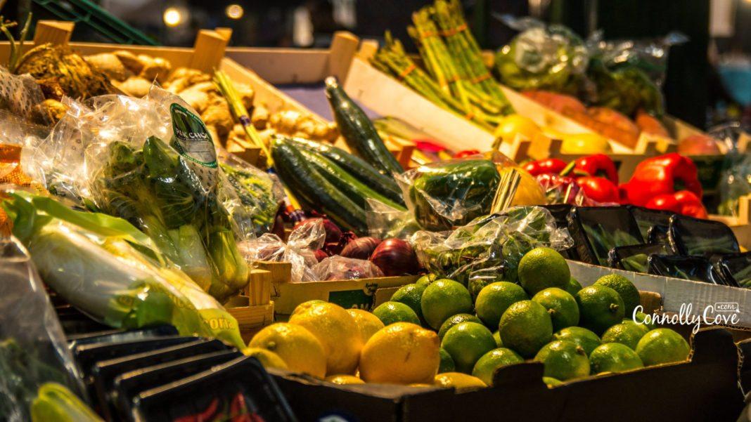 Fresh Fruit & Veg Stall-St.Georges Market-Belfast