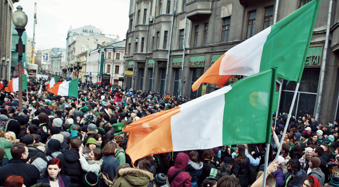 St. Patrick's Day parade in Moscow
