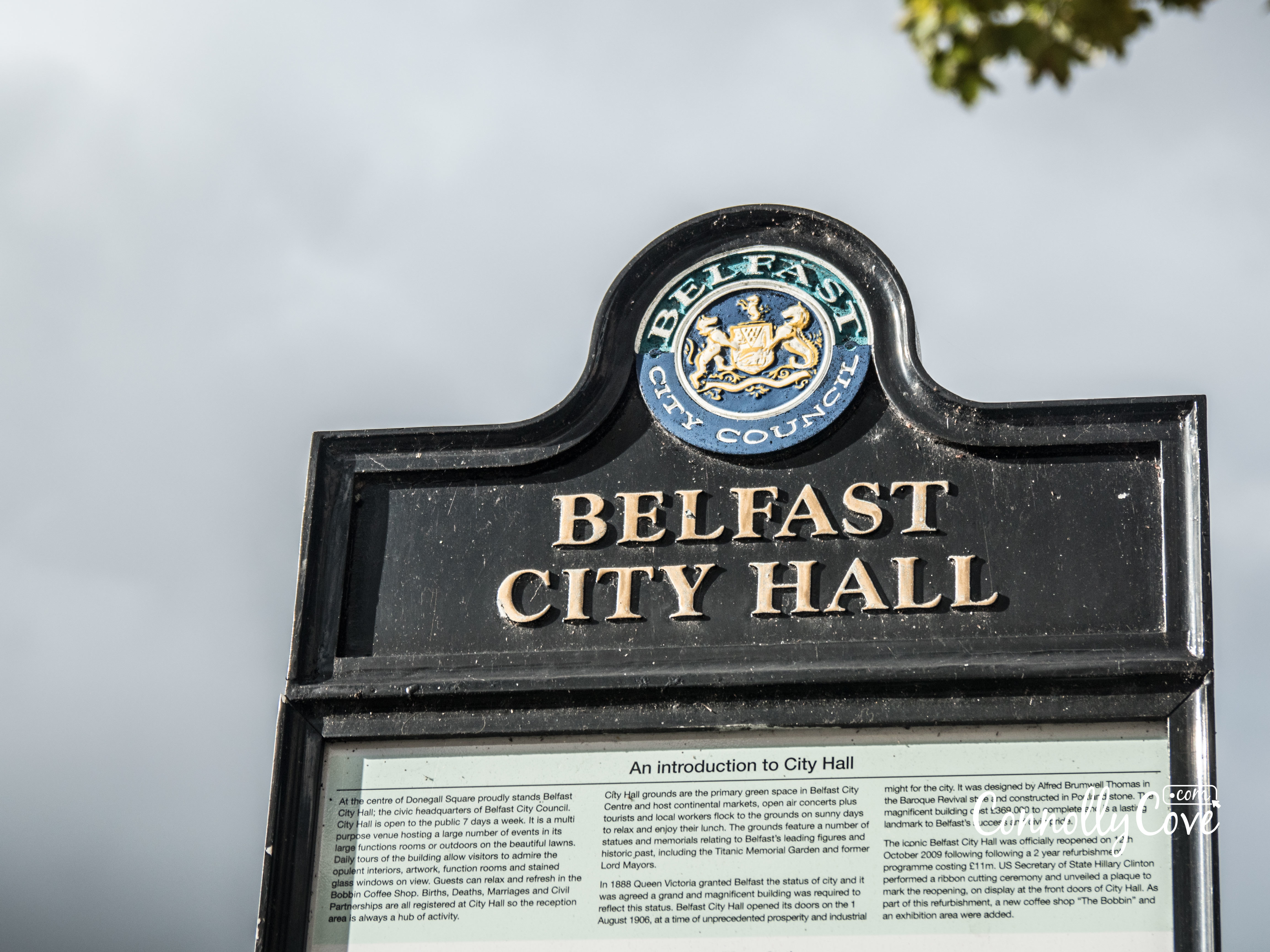 Exploring Belfast City Hall Connolly Cove