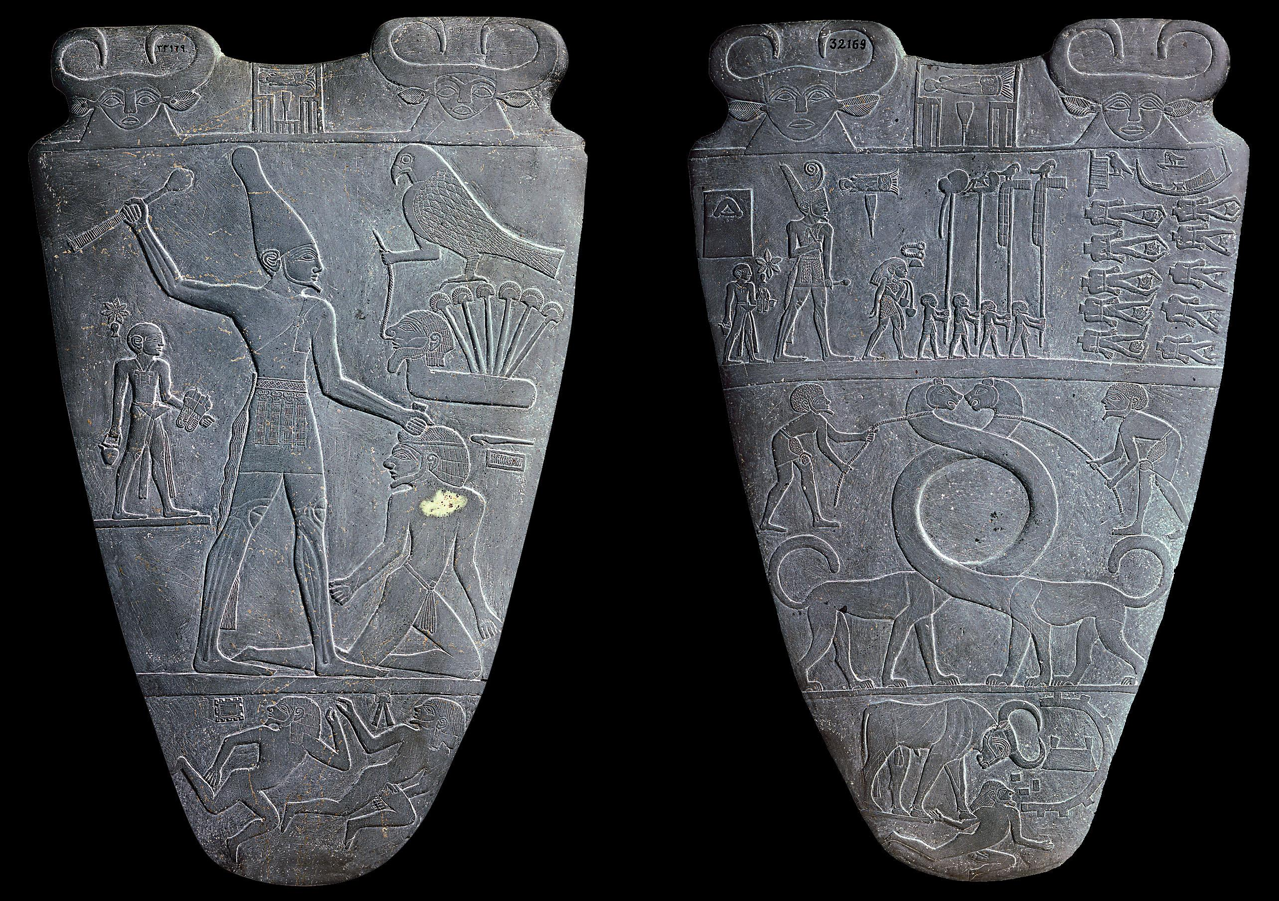 Narmer Palette at the Egyptian Museum, Cairo