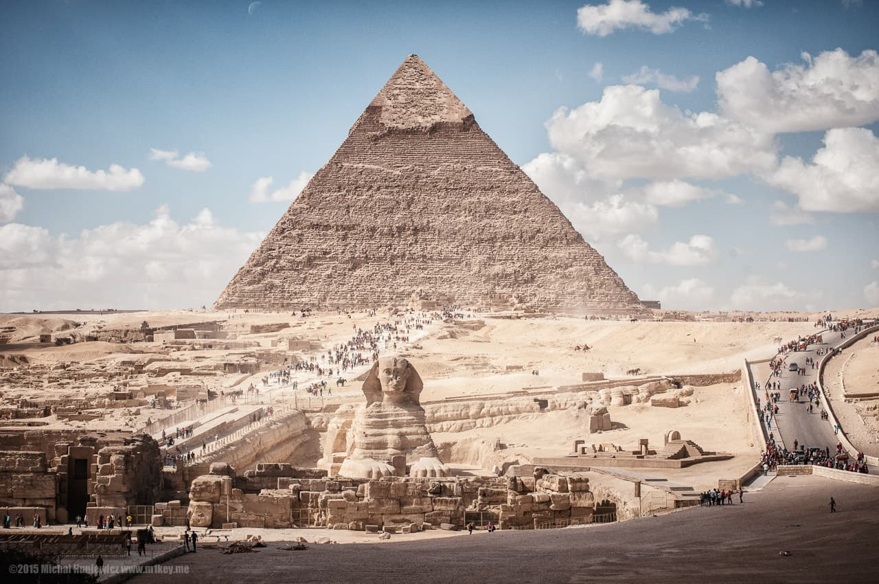 Pyramid of Khafre, the great pyramids of Giza