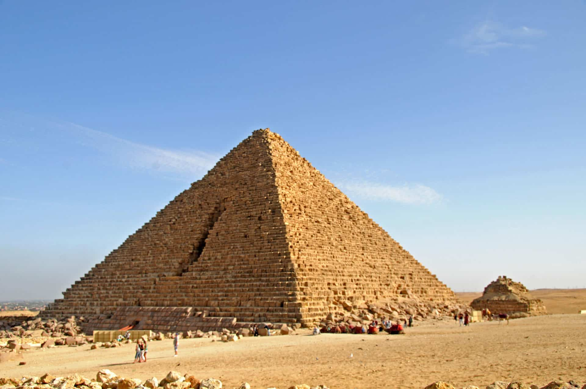 Pyramid of Menkaure, the great pyramids of Giza