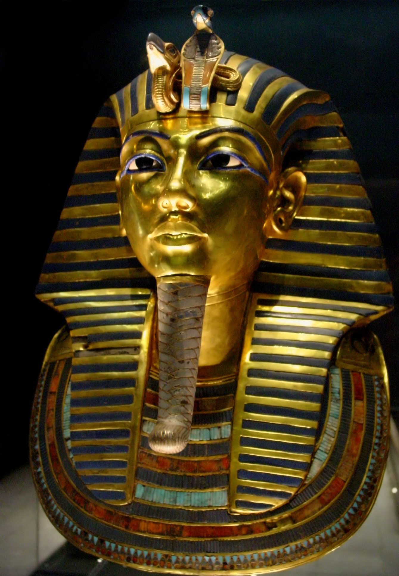 King Tut's Mask at the Egyptian Museum, Cairo