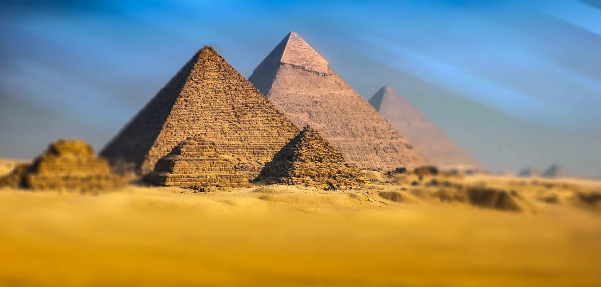 Full View of the Pyramids of Giza
