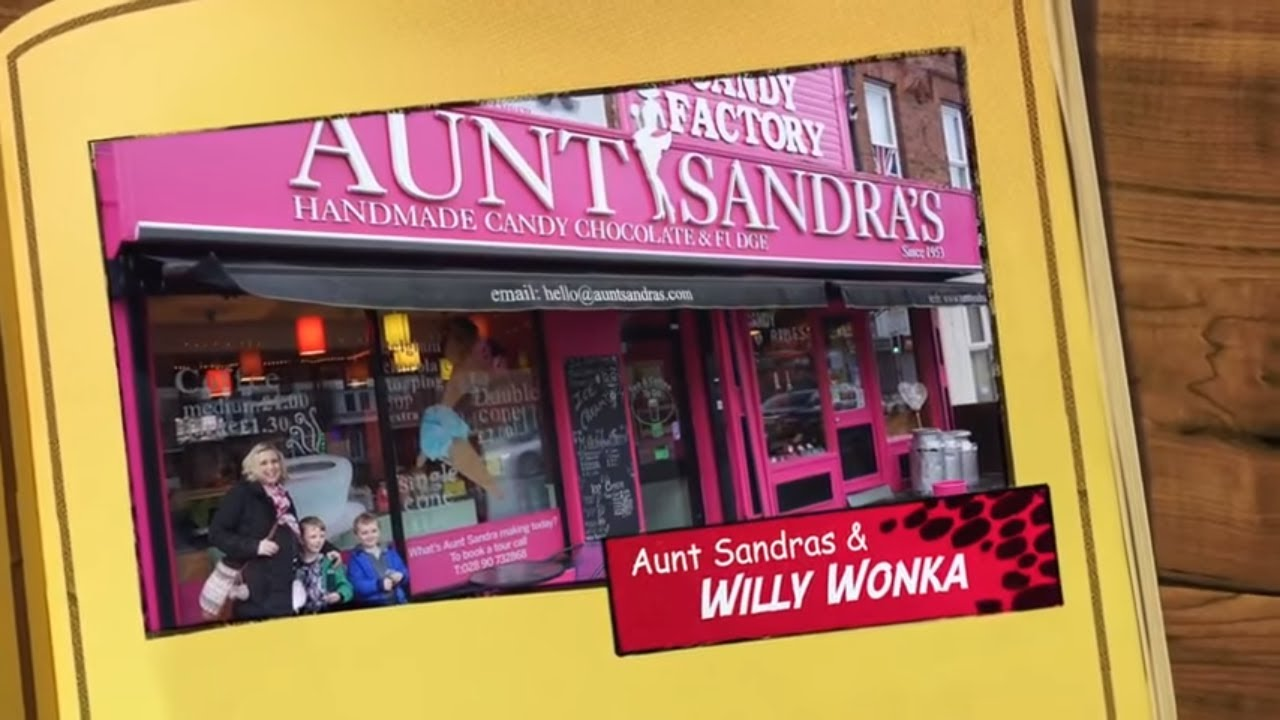 Aunt Sandra's Handmade Candy, Belfast - How to Make Sweets - The Candy Factory Tour and Willy Wonka