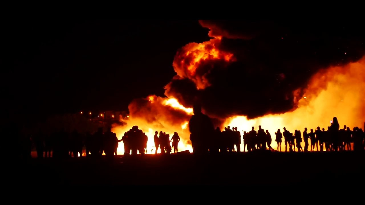 Eleventh (11th) Night Bonfire - Coleraine - Yearly Ulster Protestant Celebration in Northern Ireland