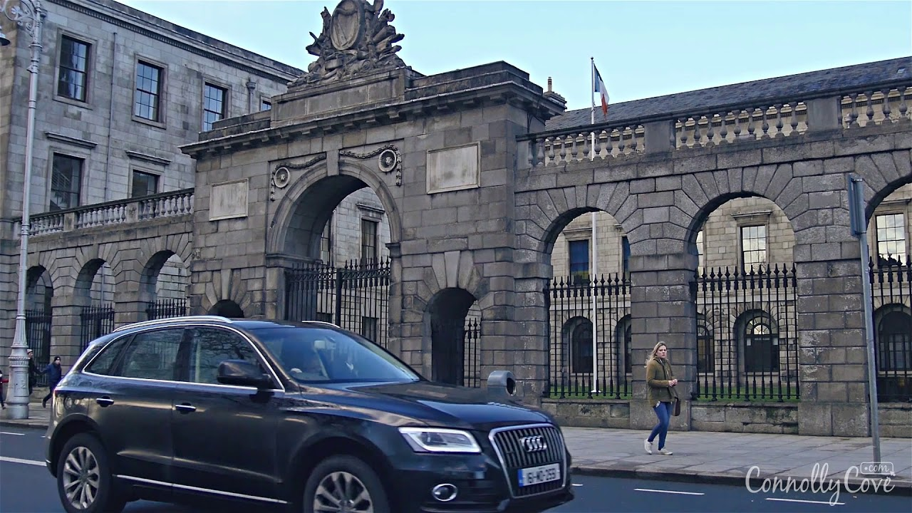 Four Courts Along the River Liffey in Dublin, Ireland - Building Started in 1786, Finished in 1802
