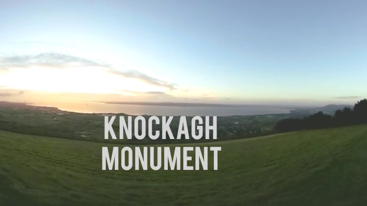 Knockagh Monument County Antrim - 360 Degree Video - Sunrise Over Belfast on Top of Knockagh Hill