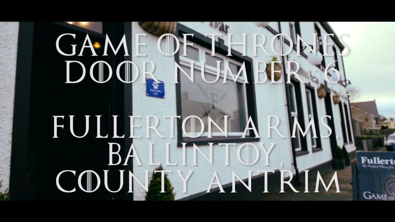 Door 6 - Fullerton Arms, Game of Thrones Door Location in Ballintoy, Ballycastle Northern Ireland