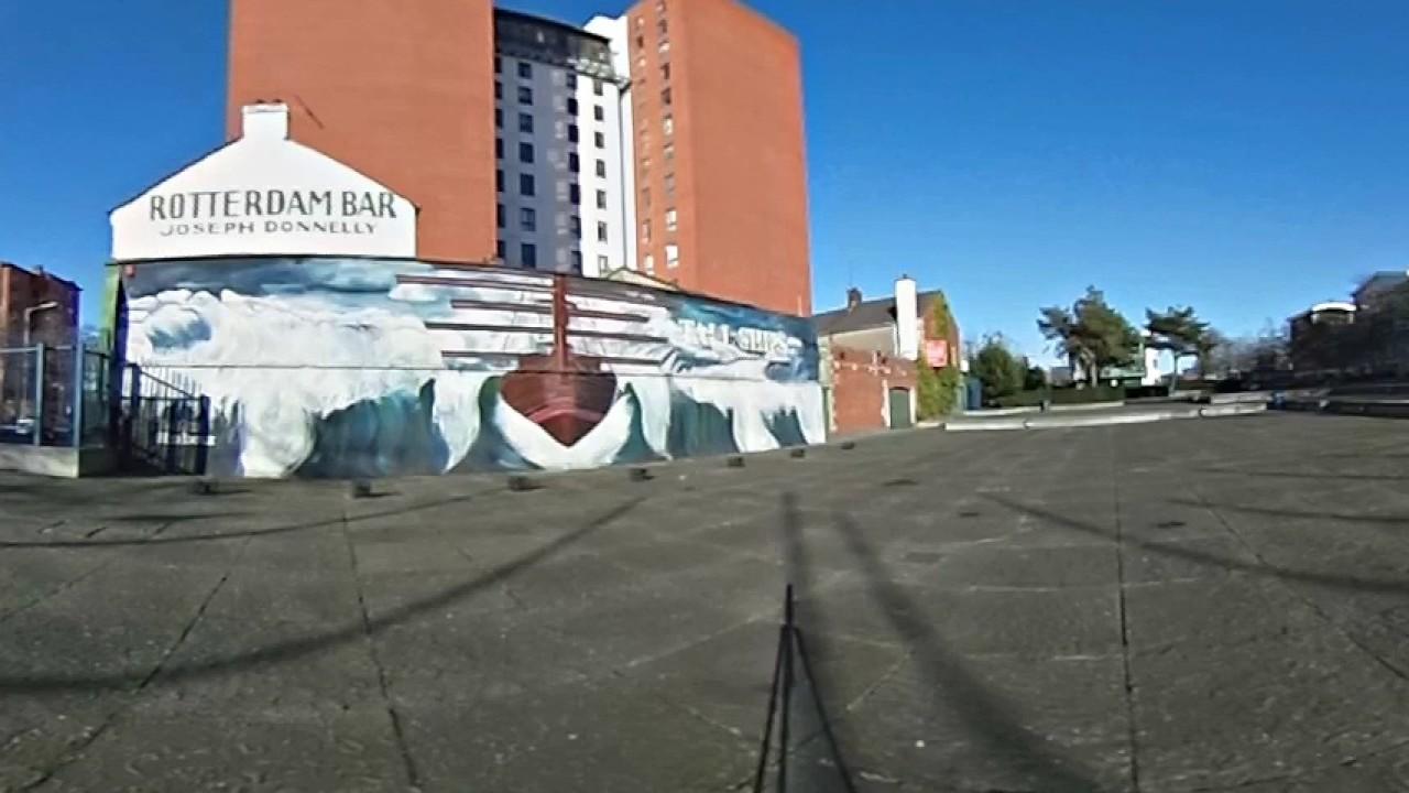 Tall Ships Mural Belfast - Rotterdam Bar Belfast Harbour - Belfast Murals - 360 Degree Video