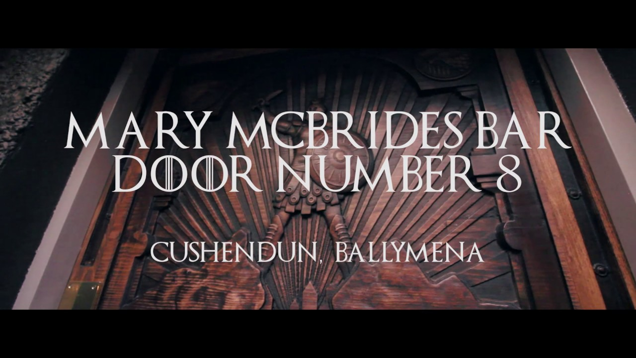 Game of Thrones Door Number 8 - Cushendun Ballymena - County Antrim - Northern Ireland - Wood Art