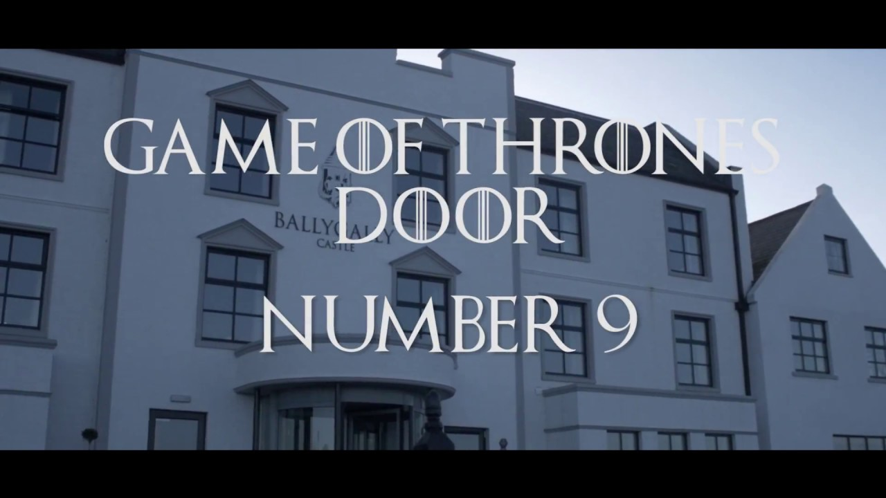 Game of Thrones Door - Ballygally Castle Hotel - GOT Door 9 - Game of Thrones Locations - NI