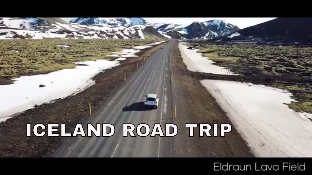celand Travel Video - Iceland Drone - Eldhraun Lava Field, Seljalandsfoss Waterfall, Reynisfjara