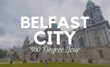 360 video tour of Belfast city