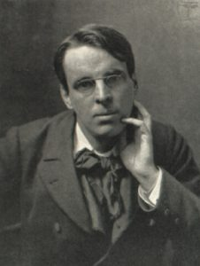 W. B Yeats in a black and white photograph