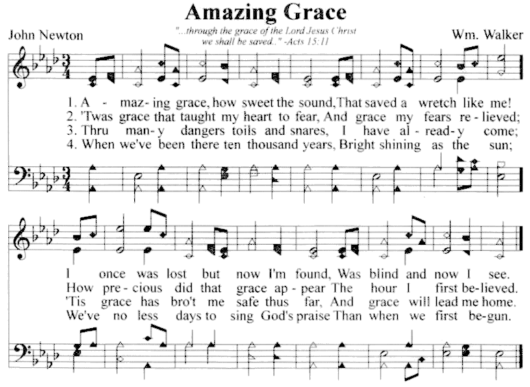 Amazing Grace Music Sheet