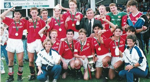 Manchester United at the Milk Cup