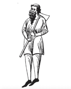 a drawing of what is to be believed as Dermot MacMurrough a King in Ireland