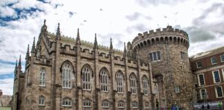 Dublin Castle looms on the hill in Ireland