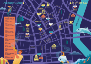 what-is-culture-night-belfast-map