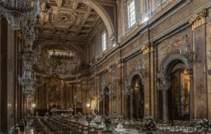 The interior of Basilica di San Giovanni e Paolo in Venice