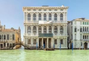 Ca' Rezzonico from the river in Venice