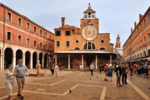 The exterior of San Giacomo di Rialto in Venice