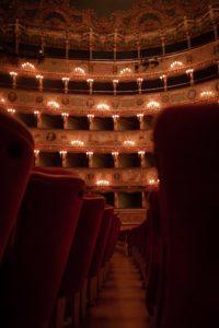 The interior Teatro La Fenice  in Venice