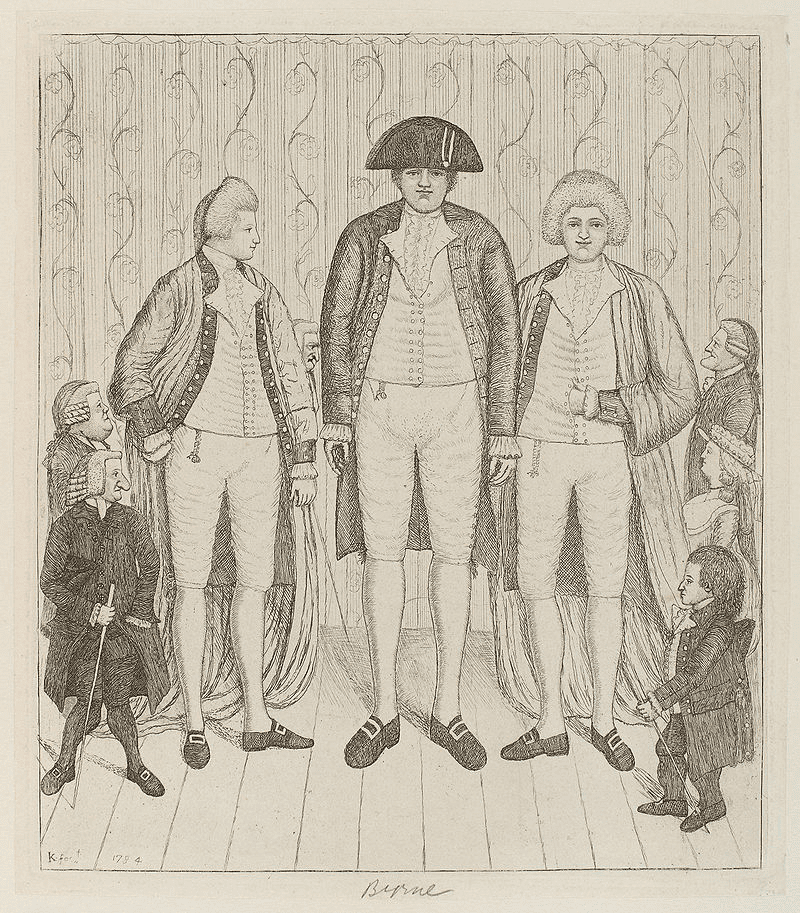 Charles Byrne in a John Kay etching (1784