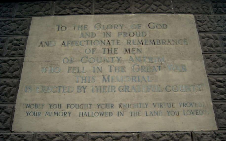 Plaque Knockagh War Memorial