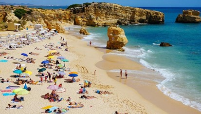 a beach on the algarve