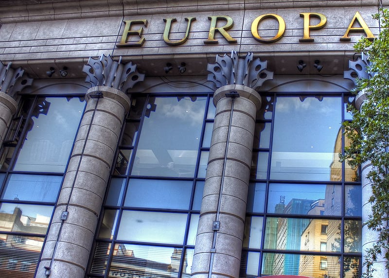The front of the Europa Hotel