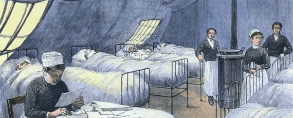 victorian hospital illustration