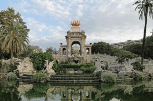 The fountain in citadel park location in Belgium