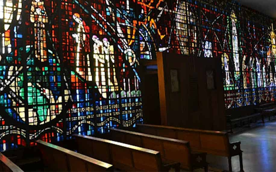 Interior of Notre-Dame de Lourdes Church
