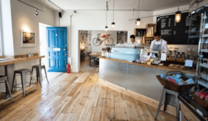 Interior of Society Cafe in Bristol
