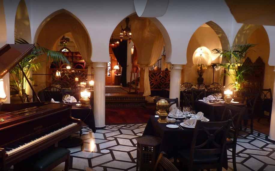 Interior of Rick's Café