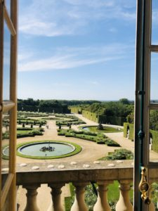 A view of the sunny Gardens of Versailles