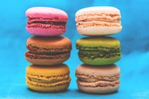 Colourful French Macarons