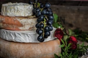 French Cheeses and Grapes