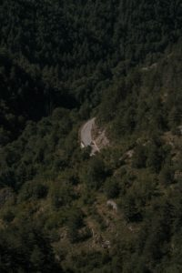 An aerial view of the Tarn Gorges in France