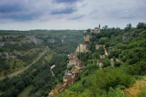 A beautiful view of the cliffside village of Rocamadour