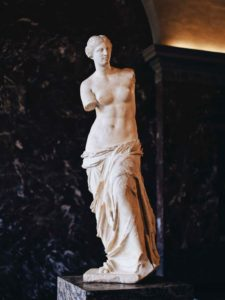 The stunning Venus de Milo at the Louvre