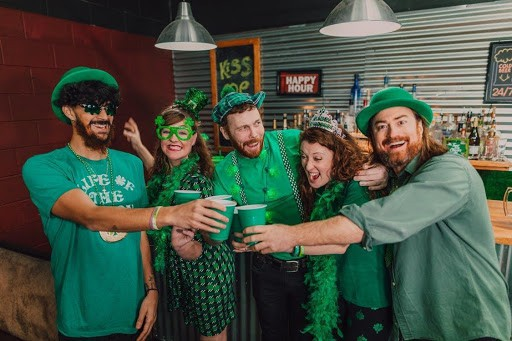 A group of people celebrating St. Patricks day