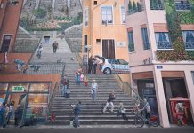 A photo of The Canuts' Fresco in La Croix-Rousse