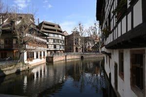 A river running through Strasbourg