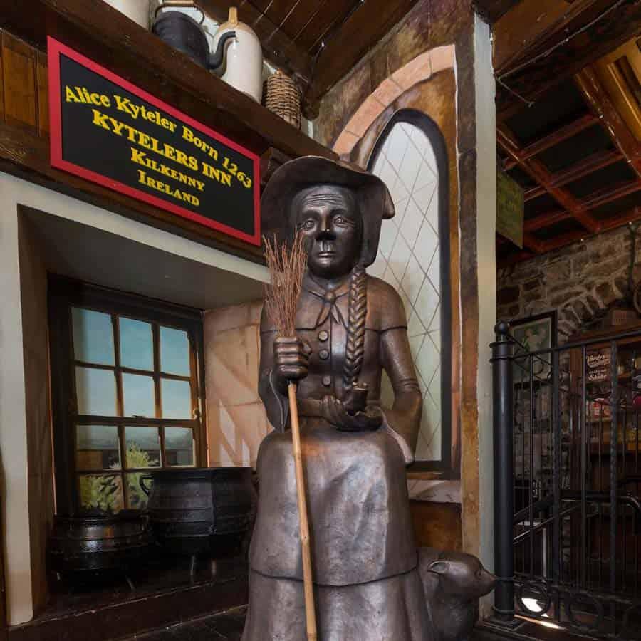 A statue of Alice de Kyteler